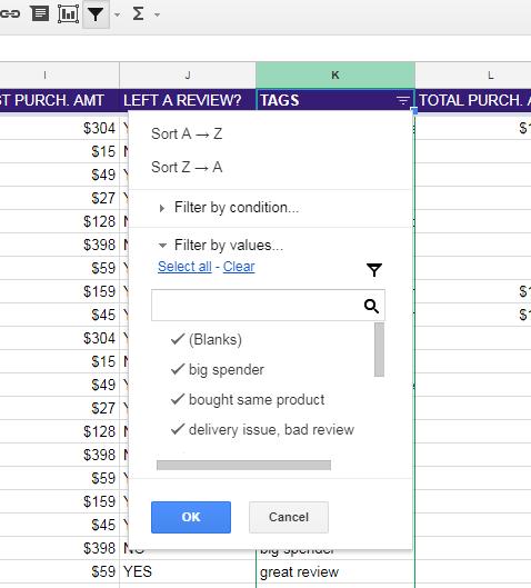 NEIL PATEL CRM EXAMPLE Google Sheets 6