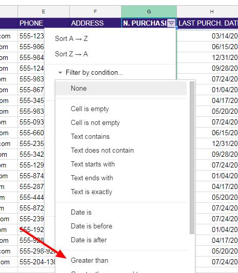 NEIL PATEL CRM EXAMPLE Google Sheets 9