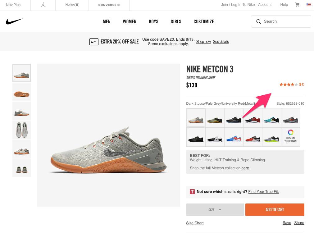 Nike Metcon 3 Men s Training Shoe Nike com