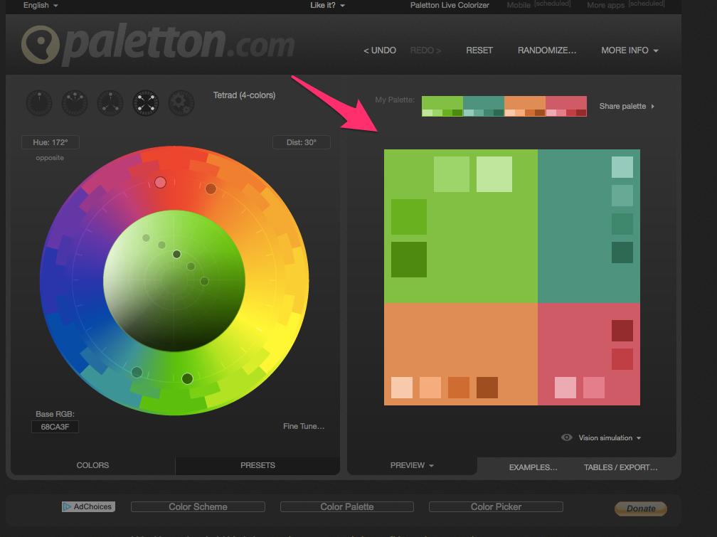 Paletton The Color Scheme Designer
