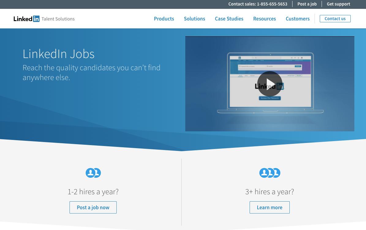 Post Jobs Employer Job Postings LinkedIn Talent Solutions