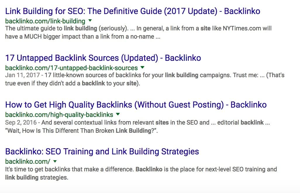 Site backlinko com link building Google Search