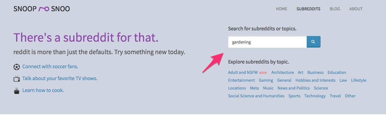 SnoopSnoo Subreddits Browse subreddits by topics