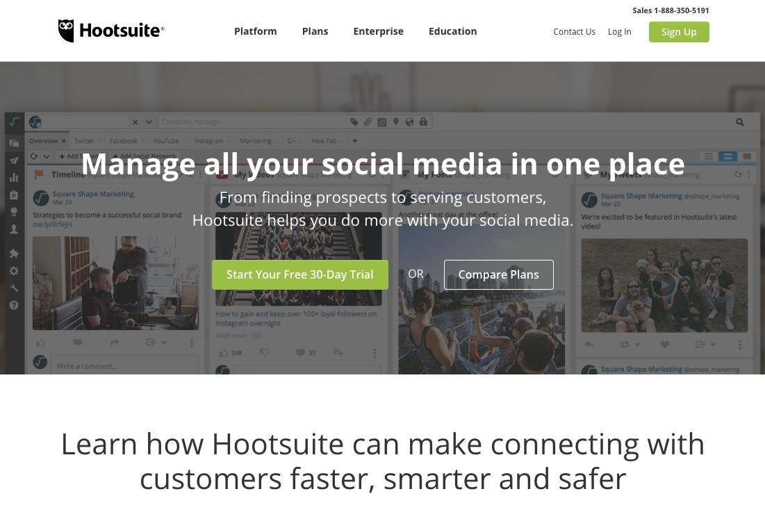 Social Media Marketing Management Dashboard Hootsuite 1