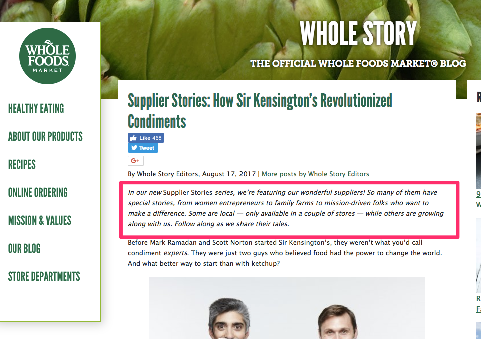 Supplier Stories How Sir Kensington s Revolutionized Condiments Whole Foods Market