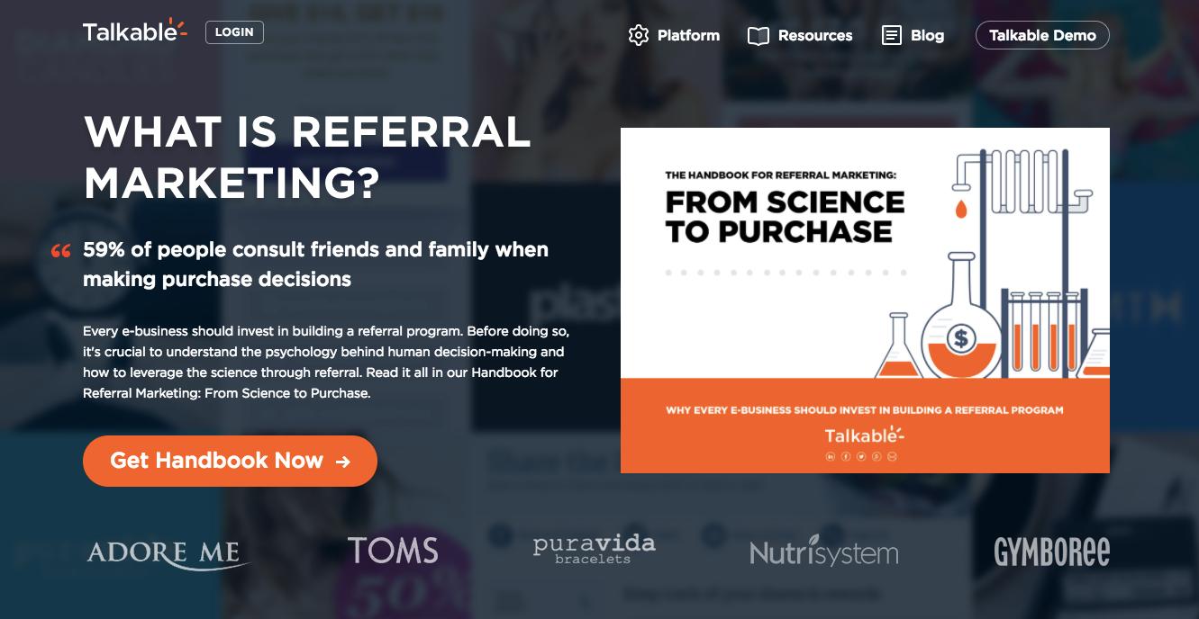 Talkable Referral Marketing Made Easy Refer A Friend programs Referral Platform
