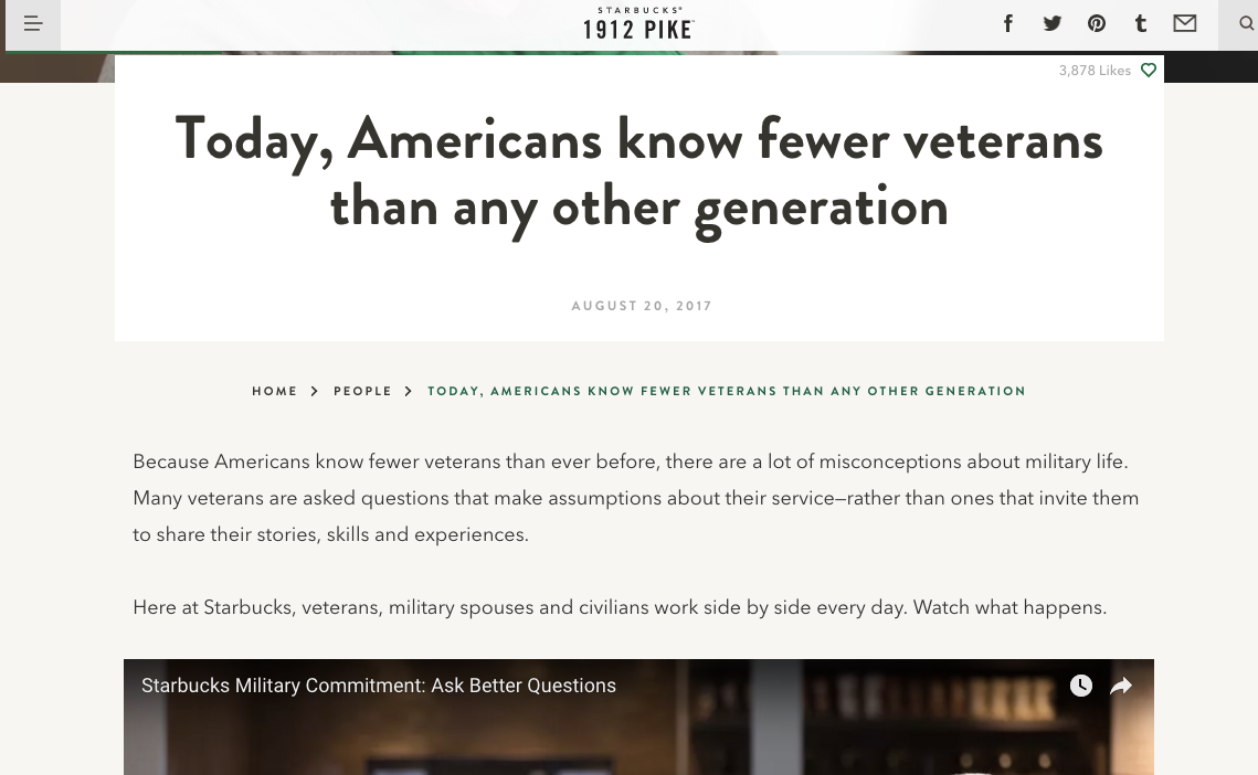 Today Americans know fewer veterans than any other generation 1912 Pike