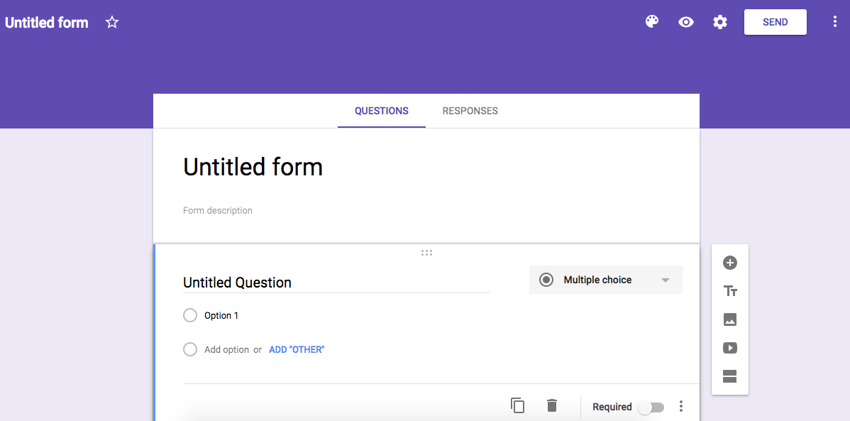 Untitled form Google Forms 1