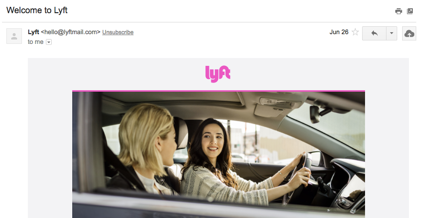 Welcome to Lyft stephen g roe gmail com Gmail 1