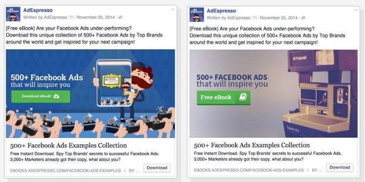 adespresso facebook ad test
