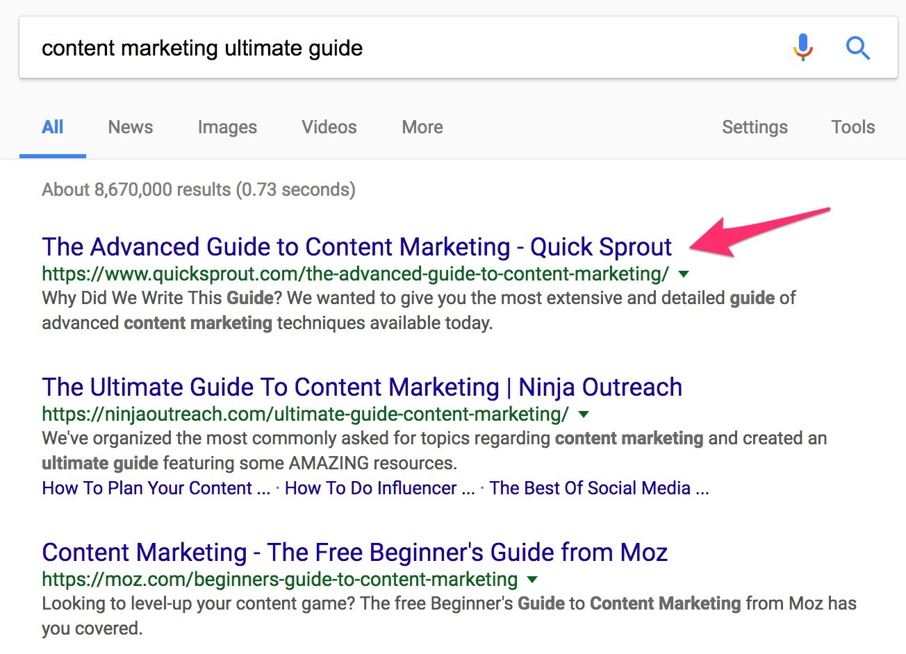 content marketing ultimate guide Google Search