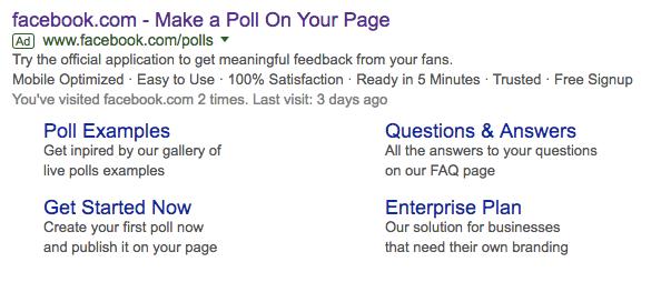 create a facebook poll Google Search