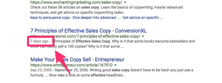 effective sales copy Google Search