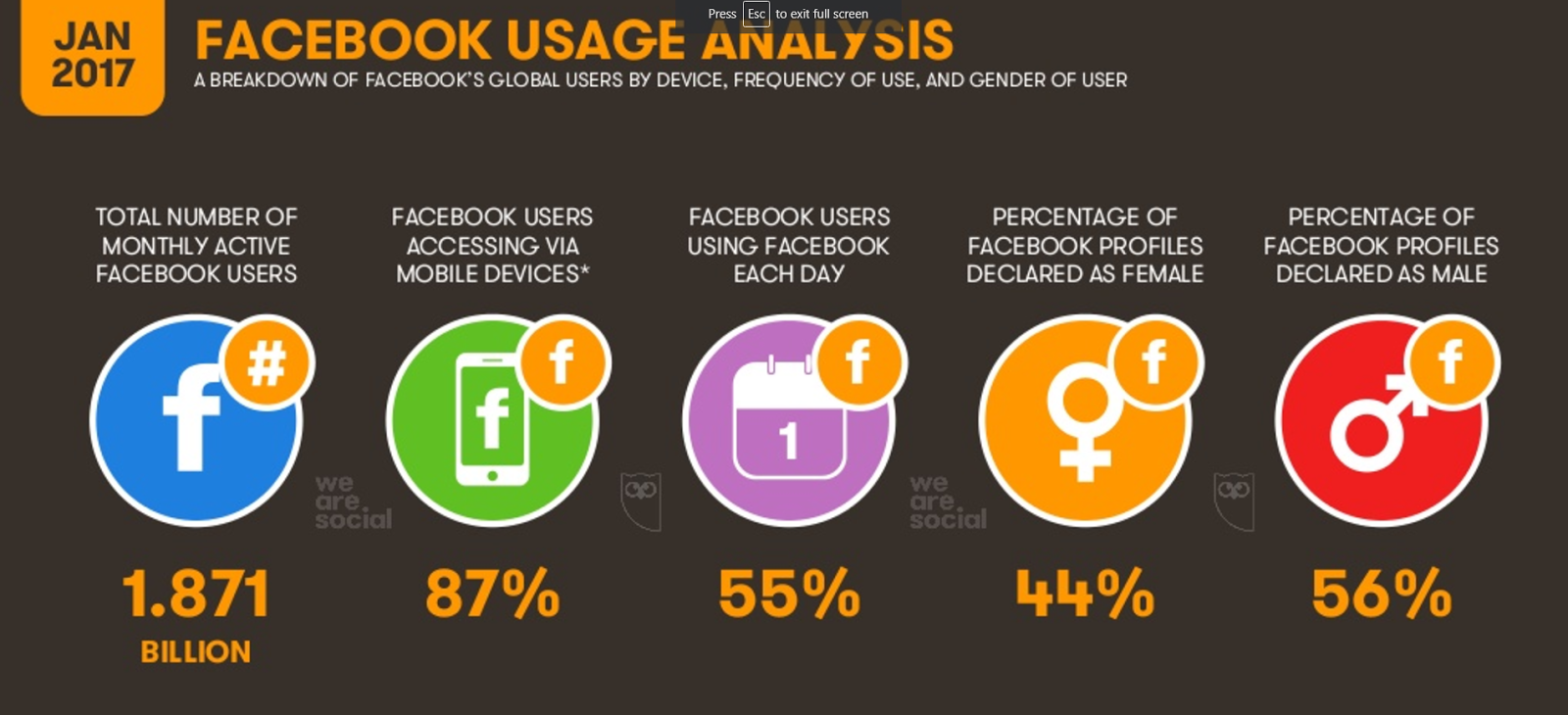 global facebook usage overview