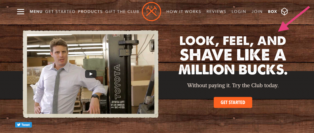 Proposta de valor do Dollar Shave Club