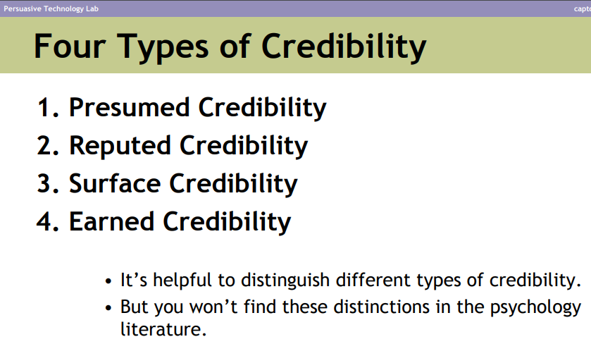 types of credibility