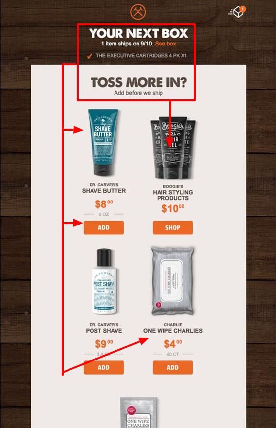 upsell dollar shave