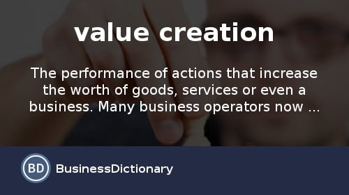 what is value creation
