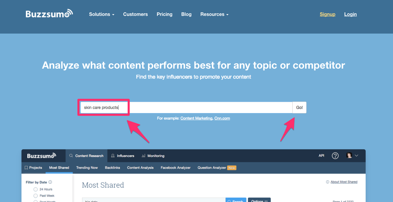 BuzzSumo Find the Most Shared Content and Key Influencers 1