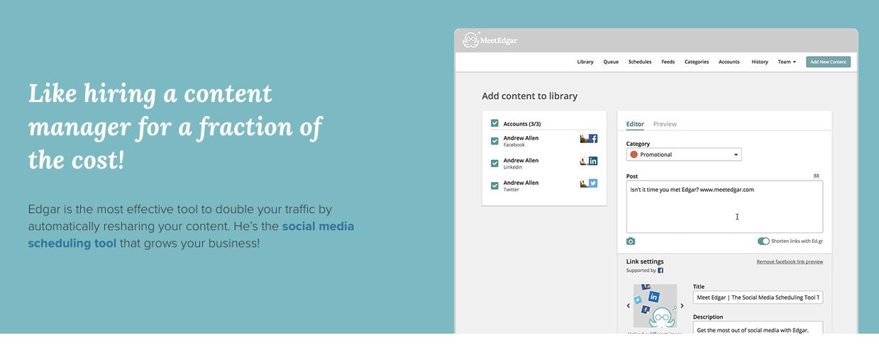 Small business organization - social media publishing tool