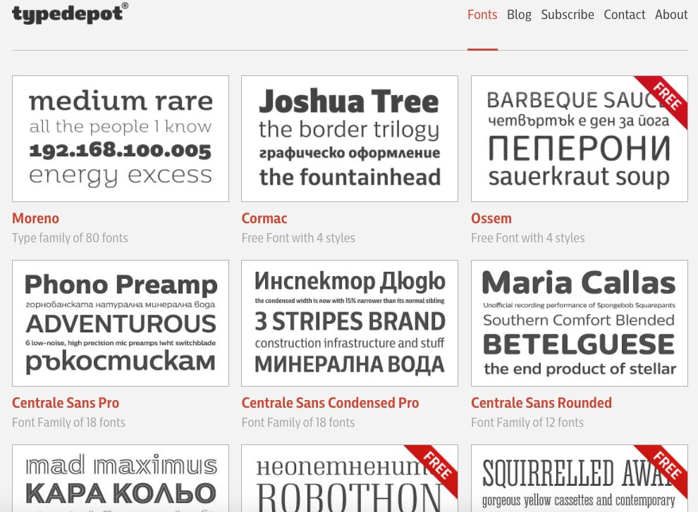 find a font typedepot