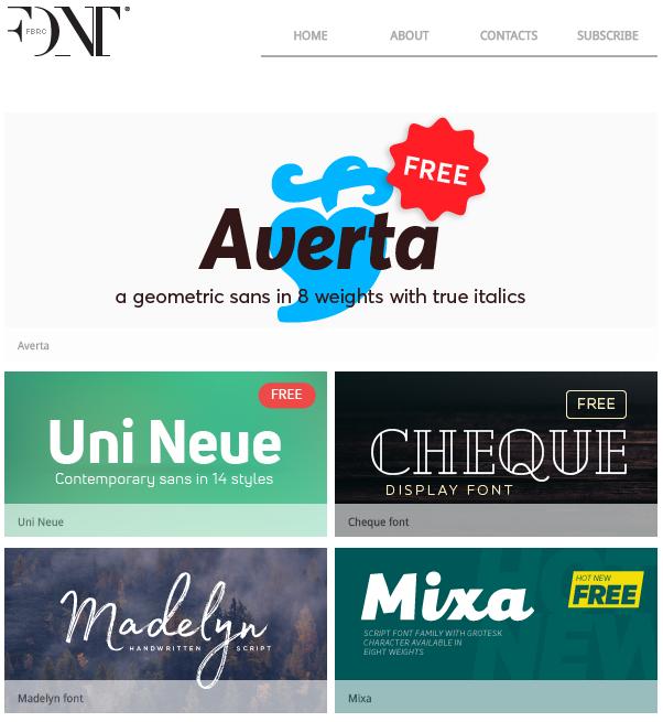 find a font  font fabric