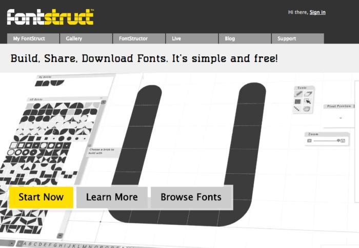 find a font free fontstruct