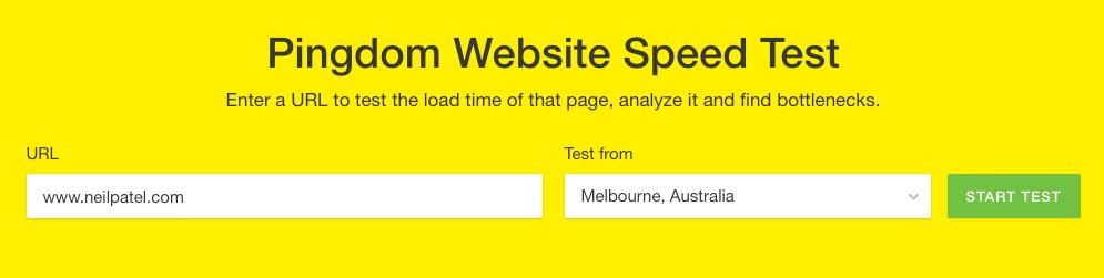 Website speed test 2