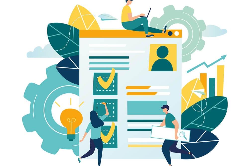 ilustração sobre resultados em ferramenta de pesquisas