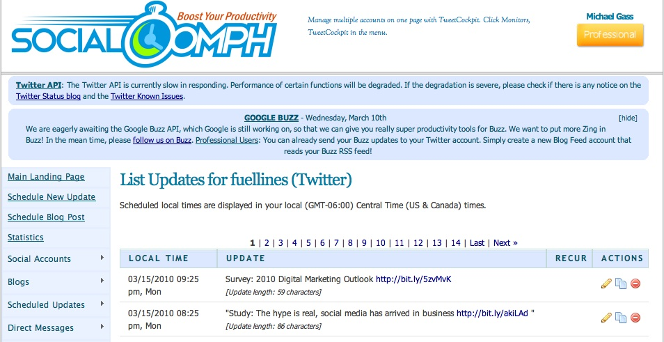 tools for twitter for business social oomph