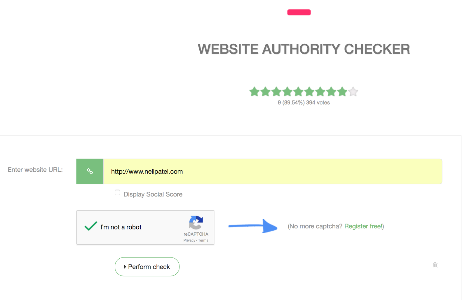 Website Authority Checker PR DA PA MOZ Backlinks 7