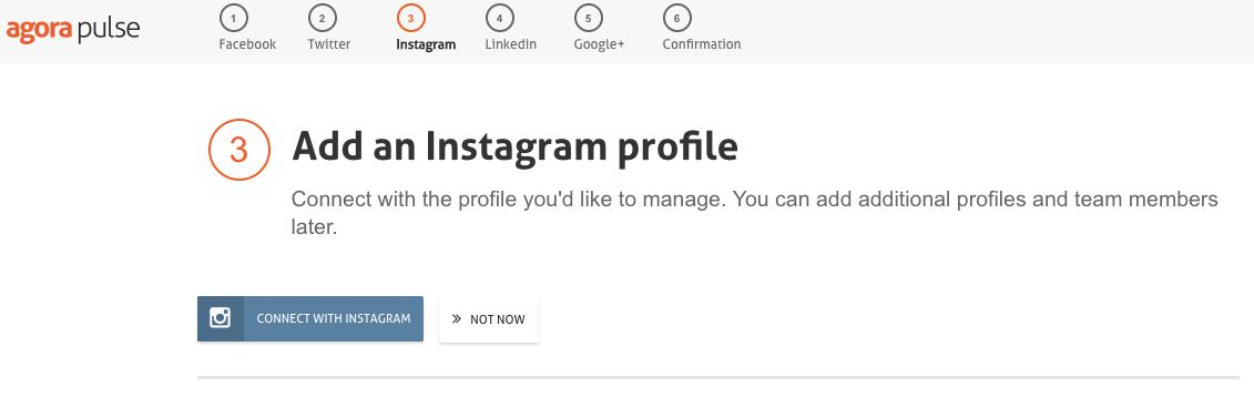 adicionar conta no instagram no app agora pulse