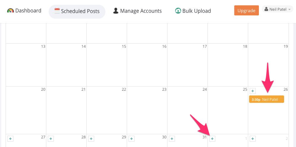 agenda de programação de posts no instagram