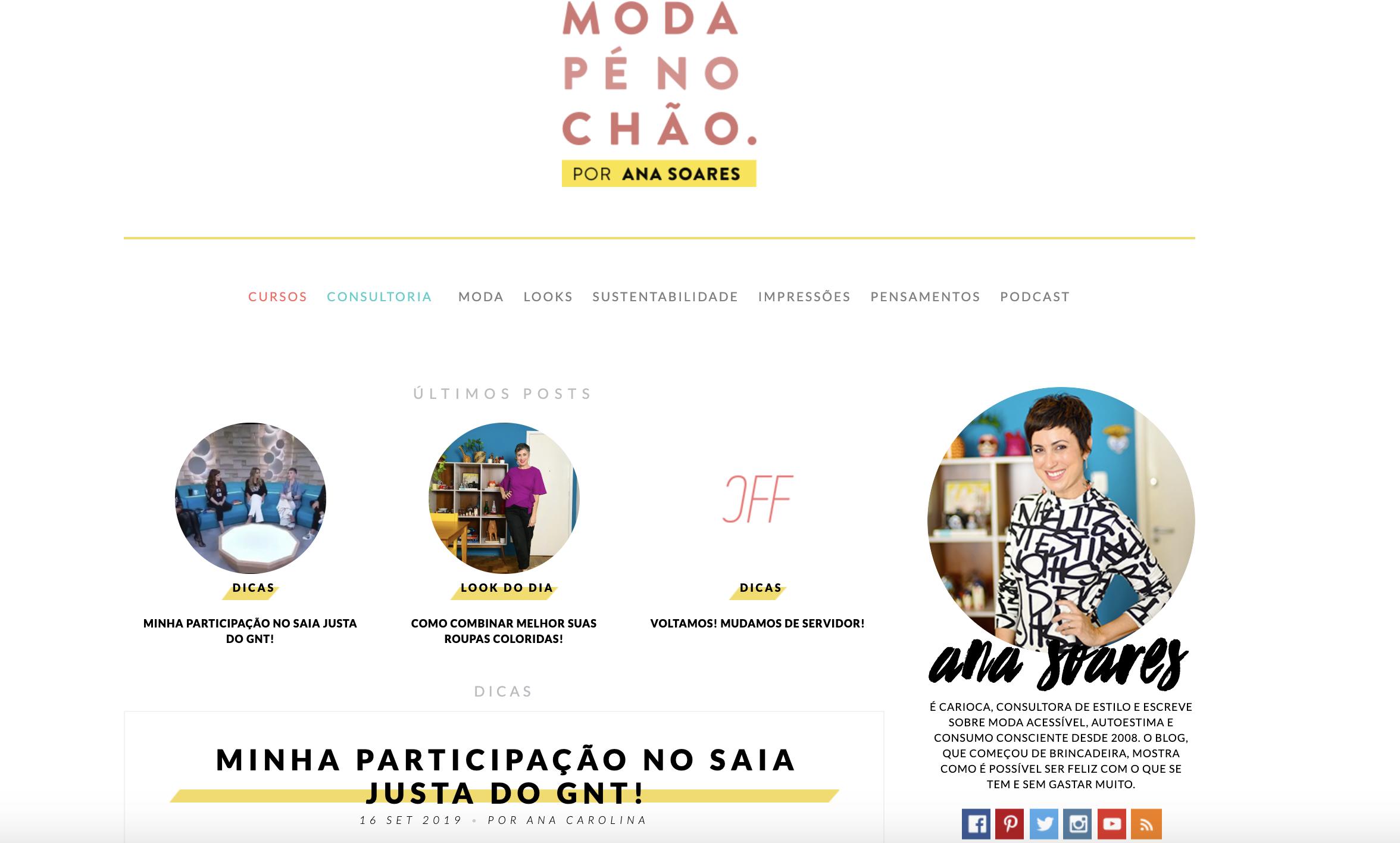 Ana Soares como exemplo de blogueira de sucesso