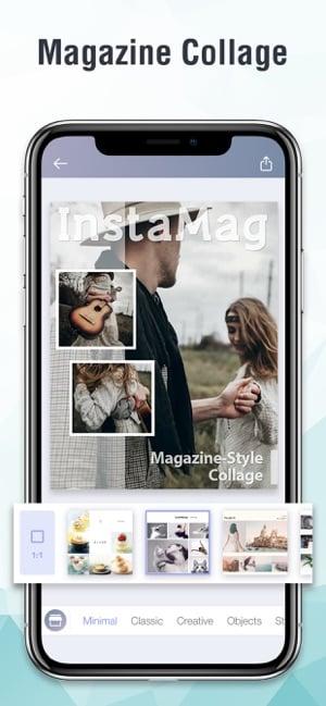 aplicativo de fotos e colagem