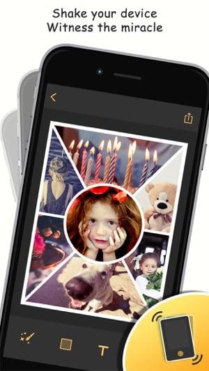aplicativo de fotos e colagens PhotoShake