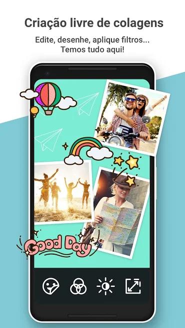 aplicativo de fotos e montagens PhotoGrid
