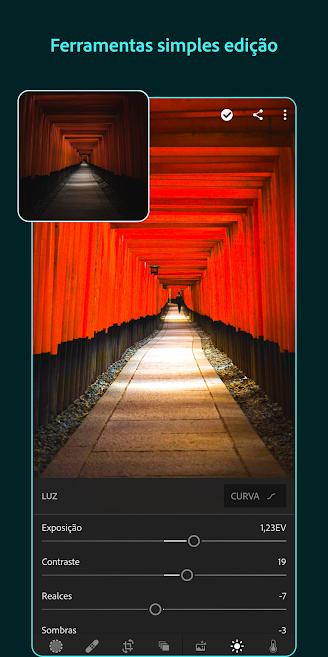 aplicativo de fotos Lightroom CC