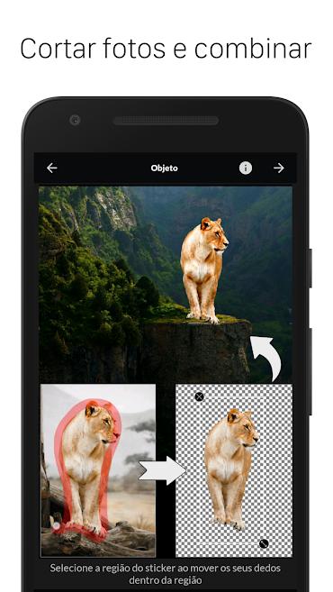 aplicativo de fotos LightX