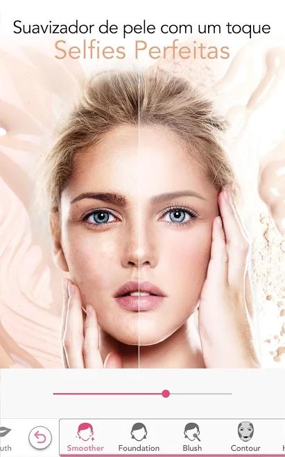 aplicativo de fotos para edições de selfies e  maquiagens