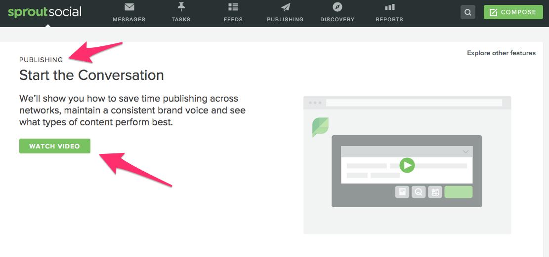 botão de vídeo tutorial para programar post no instagram pelo Sporut Social