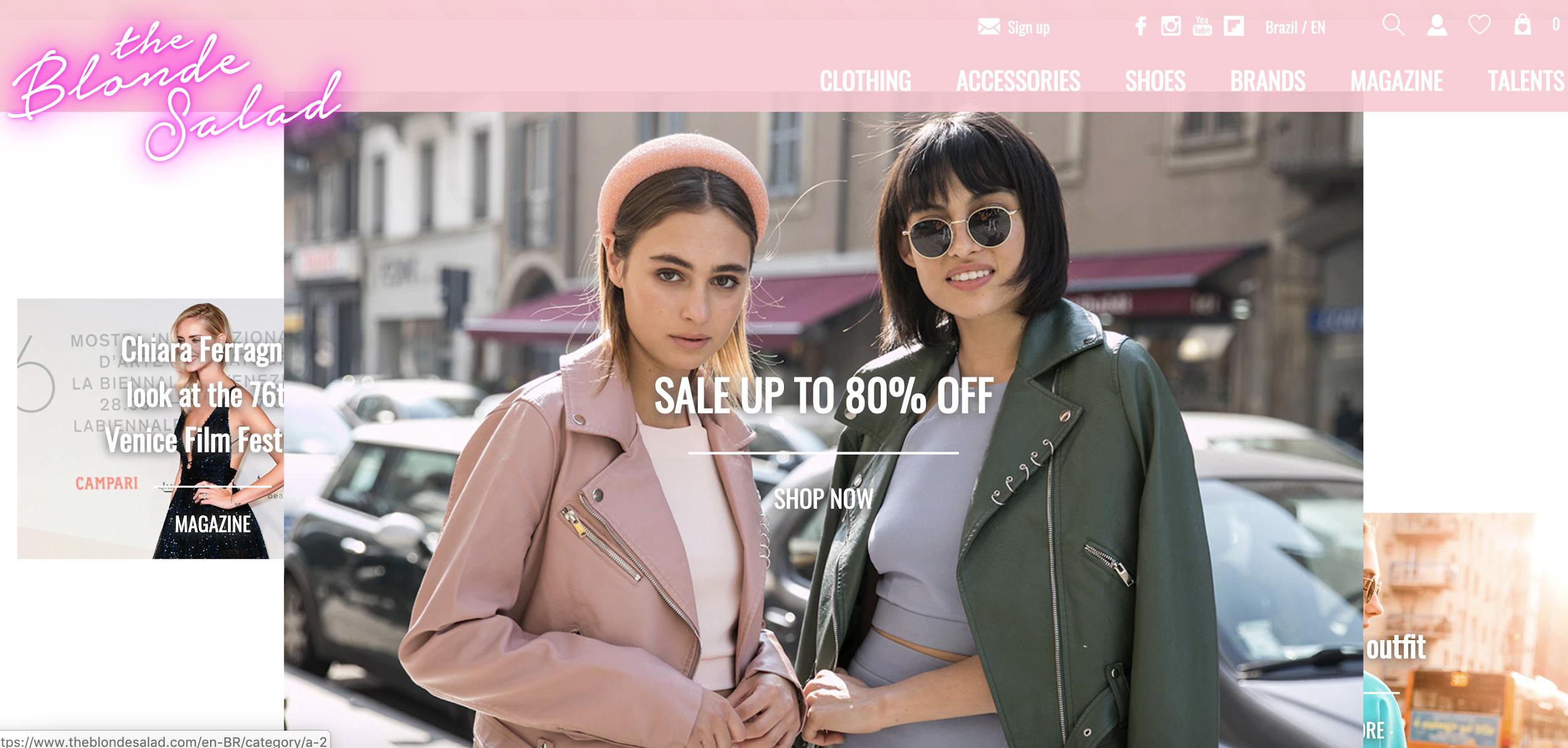 chiara ferragni como exemplo de blogueira de sucesso