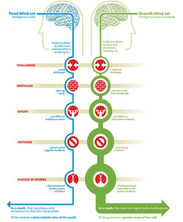 diagrama ilustrado sobre mindset