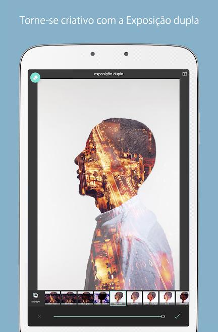 ferramenta de sobreposição no aplicativo de fotos Pixlr