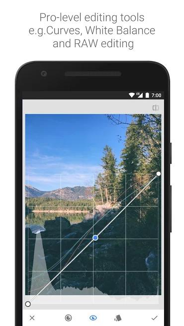 ferramenta do aplicativo de fotos snapseed