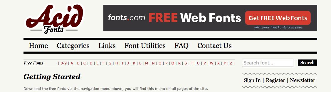 fontes de letras acid fonts
