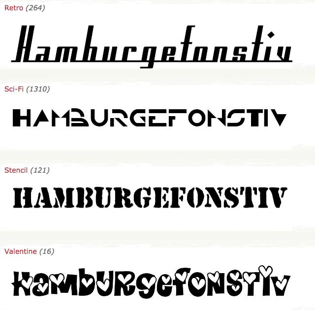 hamburgefonstiv fontes de letras