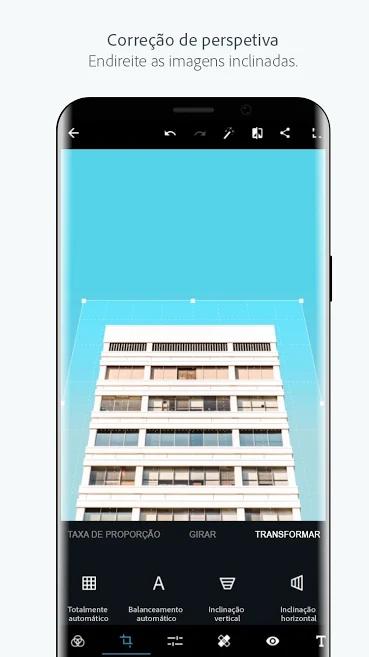 tela do aplicativo de fotos photoshop express