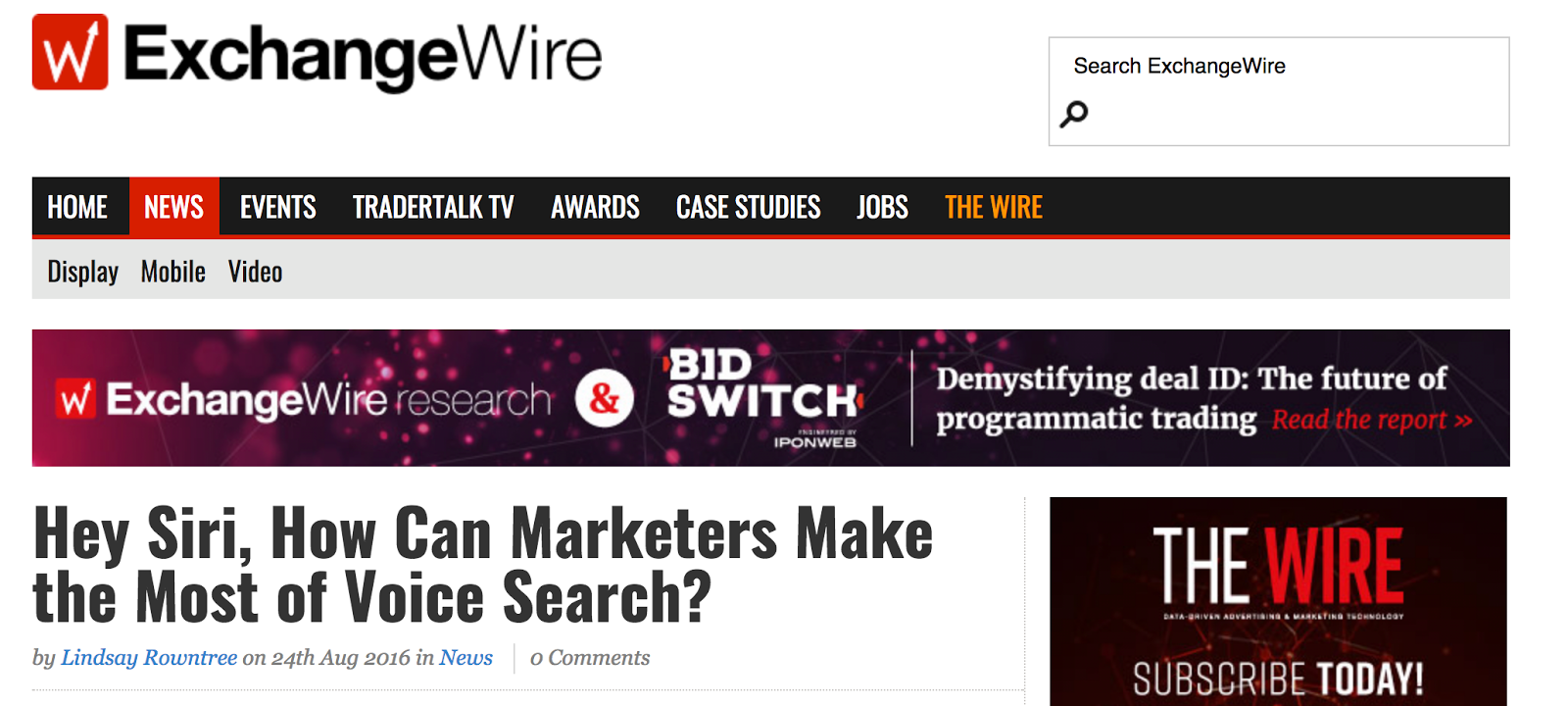 How Marketers Make the Most of Voice Search ExchangeWire com