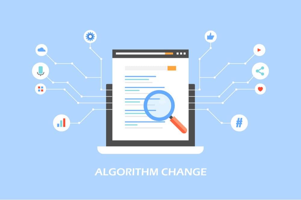lustração representando a mudança do algoritmo